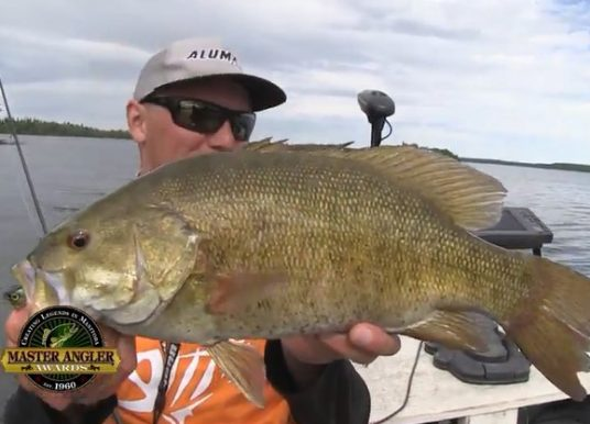 Manitoba Master Angler Minute – Fishing for Huge Smallmouth Bass